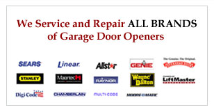 We Service and Repair All brand of garage door openeers
